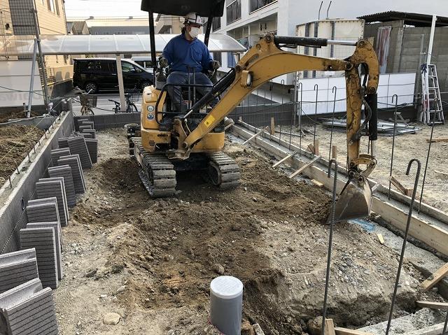 施工前1 施工現場 建設 土木 エクステリア 株式会社武井組