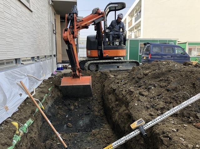 災害復旧 熊本震災 管工事 施工現場 建設 土木 エクステリア 株式会社武井組